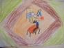 Ficsor Noémi (8, Mohács) rajzán az egész család Bibliát olvas